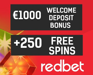 Redbet Casino - 250 Free Spins plus €1000 Free Chips - bonus codes