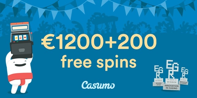 Casumo Casino | 200 free spins and €1200 exclusive bonus | review