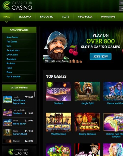 Cyber Club Casino Review