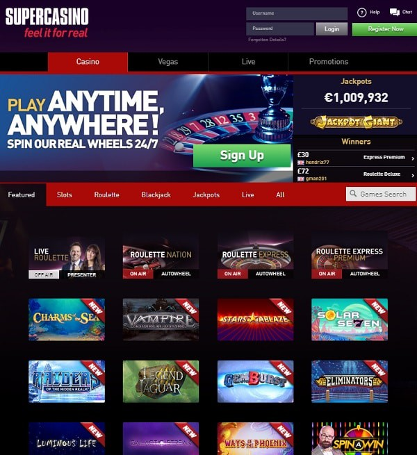 Super Casino Free Spins Bonus