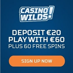 CasinoWilds free spins bonus