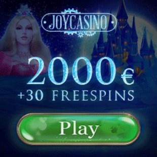 Joy Casino - 30 free spins and 225% up to €200 free bonus