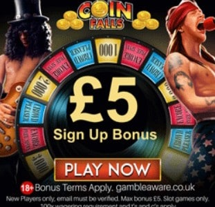 Coinfalls Casino free spins