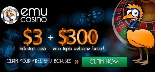 Emu $3 free bonus