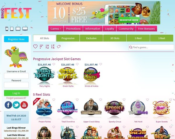 Bingo Fest online casino review