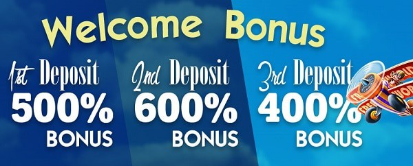 Get 1500% bonus on your 3 deposits!