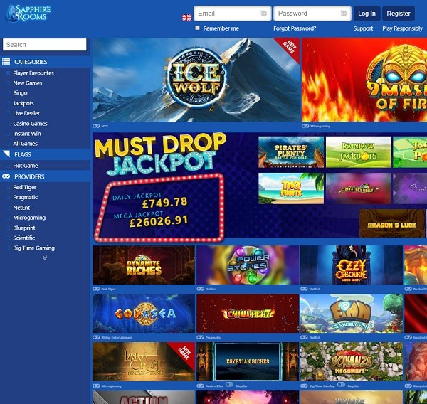 Sapphire Rooms Casino Review