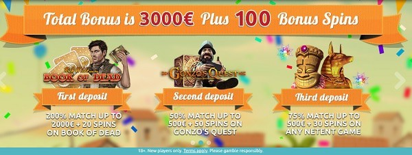 Spin Station Casino 3000 EUR bonus and 100 extra spins