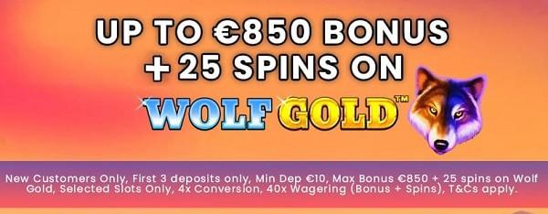 BetReels Casino International: 25 free spins and 850 EUR welcome bonus