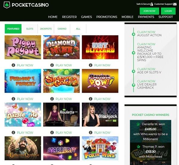 Pocket Casino Review