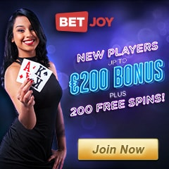 BetJoy Casino | 225 free spins and 150% up to €200 bonus | review