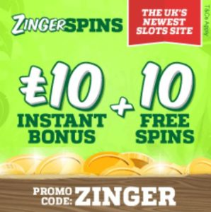 Zinger Spins - online and mobile casino games!