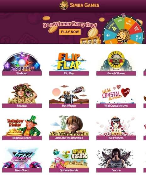 SimbaGames Casino Review