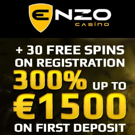 Enzo Casino | 30 free spins NDB + 300% up to €1500 bonus | review