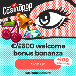 Casino Pop - 100 free spins and 450% bonus up to €600 - review