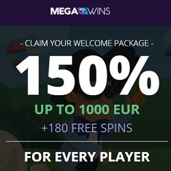 Mega Wins Casino | 25 free spins and €450 or 4 bitcoins free bonus