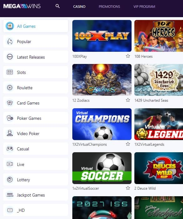 Mega Wins Casino free spins