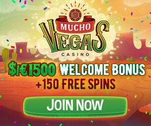 Mucho Vegas Casino 150 free spins   600% up to €1500 free bonus