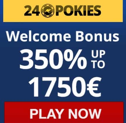24 Pokies Casino 350% up to $1750 free bonus for new players
