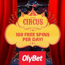 OlyBet Casino 100 daily free spins and 100% up to €200 free bonus
