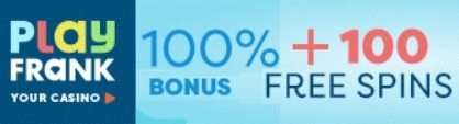 Play Frank Casino 100 free spins and €200 welcome bonus