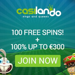 Casilando Casino $300 bonus and 100 free spins