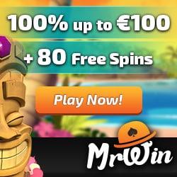 Mr Win Casino | 30 gratis spins + 100% free bonus + 50 free spins