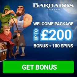 Barbados Casino   100 Free Spins and £200 Bonus   No Deposit Promos