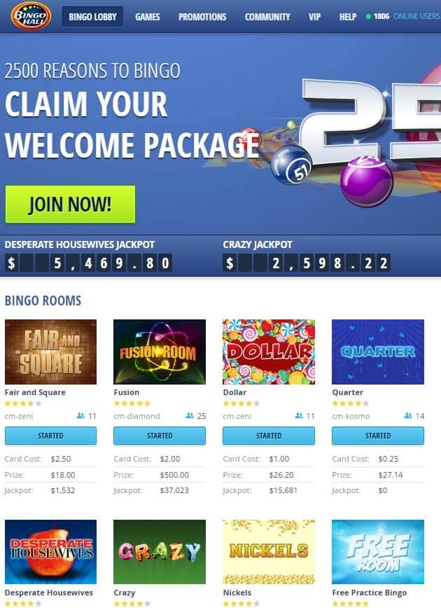 Bingo Hall Casino Review - free spins, free bets, free bonus, free chips