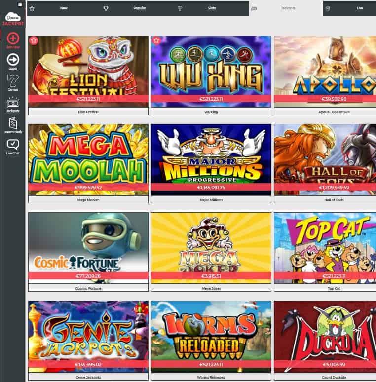 Dream Jackpot Casino Review