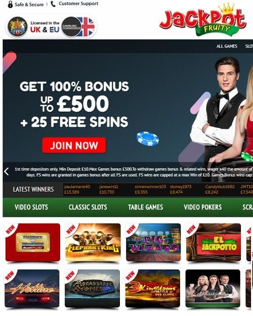 Jackpot Fruity Casino Review