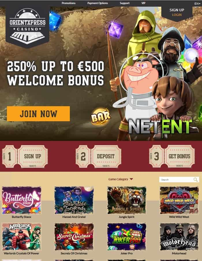 Orient Express Casino Review