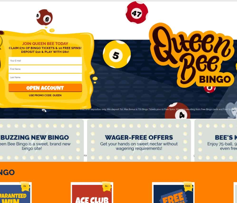 Queen Bingo Bee Casino Review