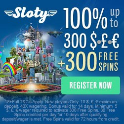 300 free spins and 200% up to €1,500 bonus
