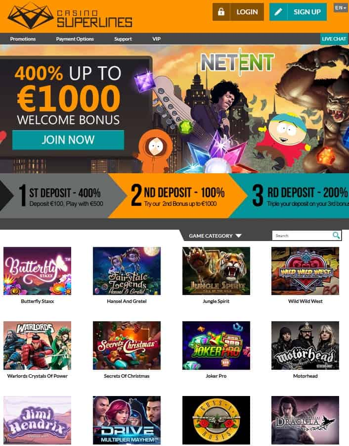 SuperLines Casino Review