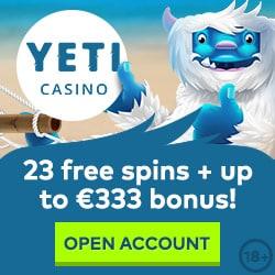 Yeti Casino Review: 100 free spins + 100% up to €333 gratis bonus