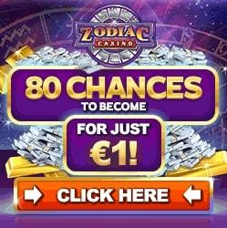Zodiac Casino 80 free spins on Mega Moolah   150% free bonus