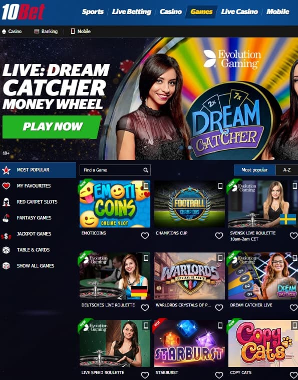 10Bet.com Casino & Sports - Review