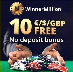 Winnermillion Casino €10 gratis   500% up to €4000 bonus   50 free spins