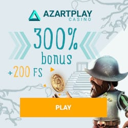 AzartPlay Casino (APlay) 200 free spins + 300% up to €1500 free bonus