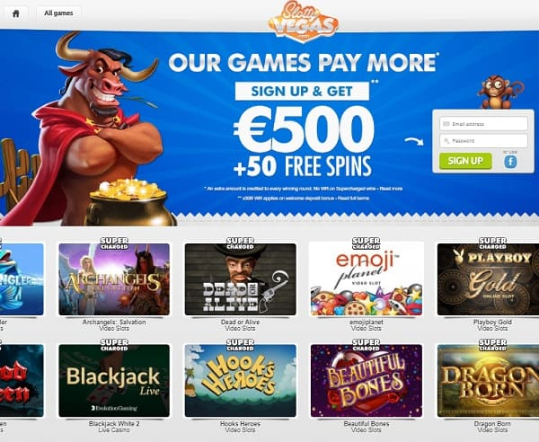 Get 50 free spins and 150% bonus