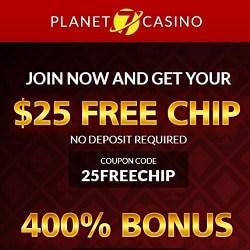 Planet 7 Casino 25 No Deposit Chips And 400 Free Bonus Codes