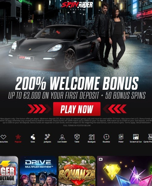 Spin Rider Casino Review