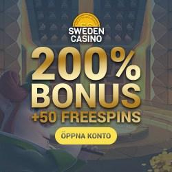 Sweden Casino 50 free spins and 200% welcome bonus - GRATIS!!!