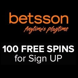 Betsson Casino 100 free spins and €200 welcome bonus