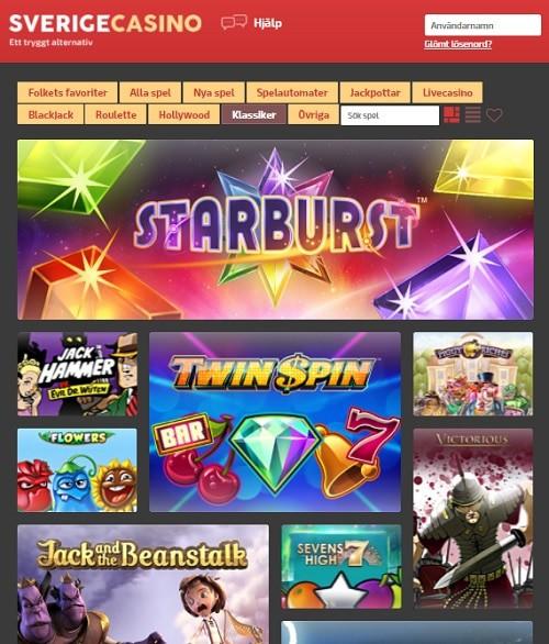 SverigeCasino.com free spins bonus
