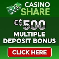 Casino Share €500 free credits and 100 free spins bonus