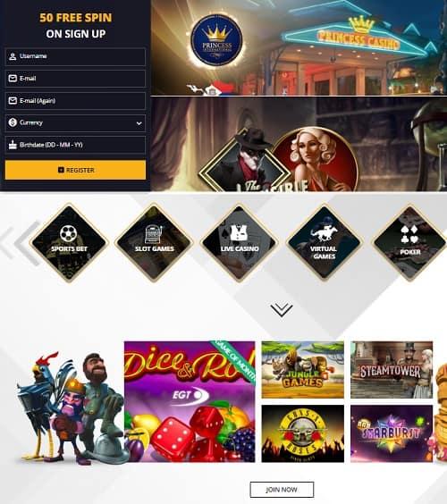 Princess Bet Casino Online Review