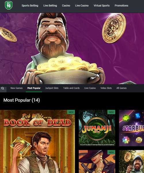 Bet90 Casino Review