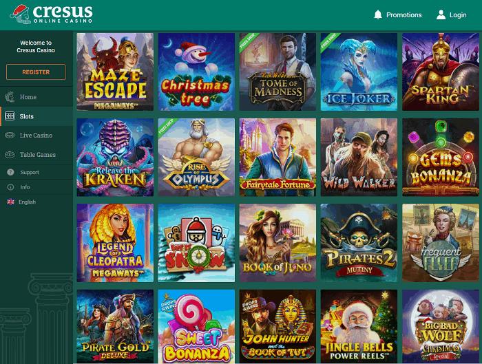Cresus Casino Website Review